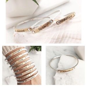 Metal Silver and Gold Bangle Bracelet